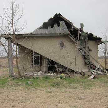 empty derelict